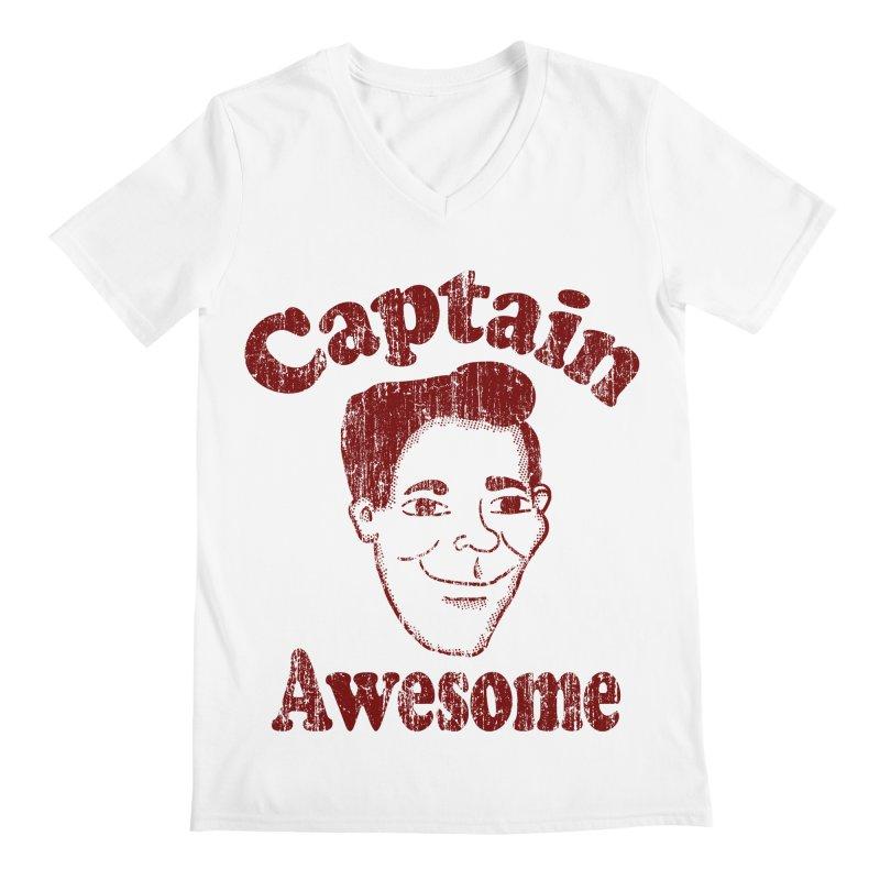 Vintage Captain Awesome Men's V-Neck by ericallen's Artist Shop