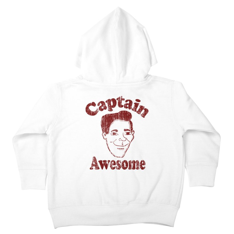 Vintage Captain Awesome Kids Toddler Zip-Up Hoody by ericallen's Artist Shop