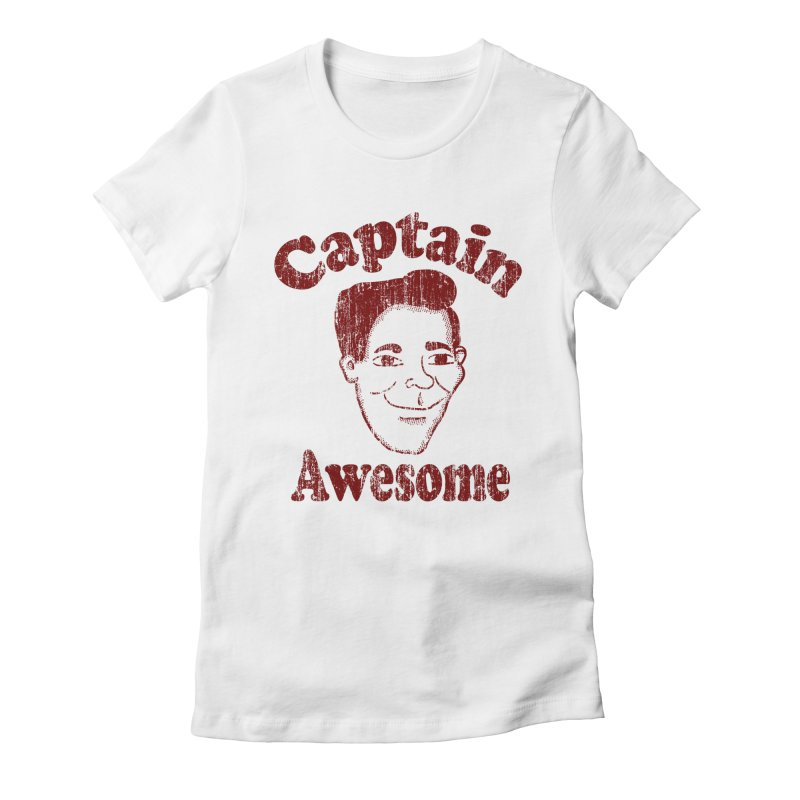 Vintage Captain Awesome Women's Fitted T-Shirt by ericallen's Artist Shop