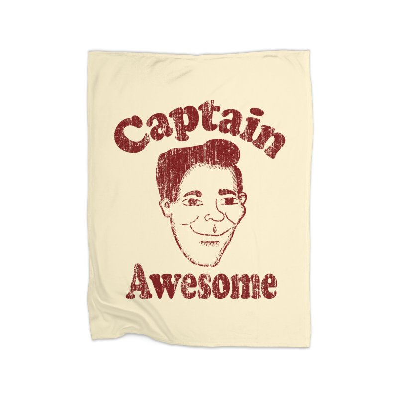Vintage Captain Awesome Home Blanket by ericallen's Artist Shop