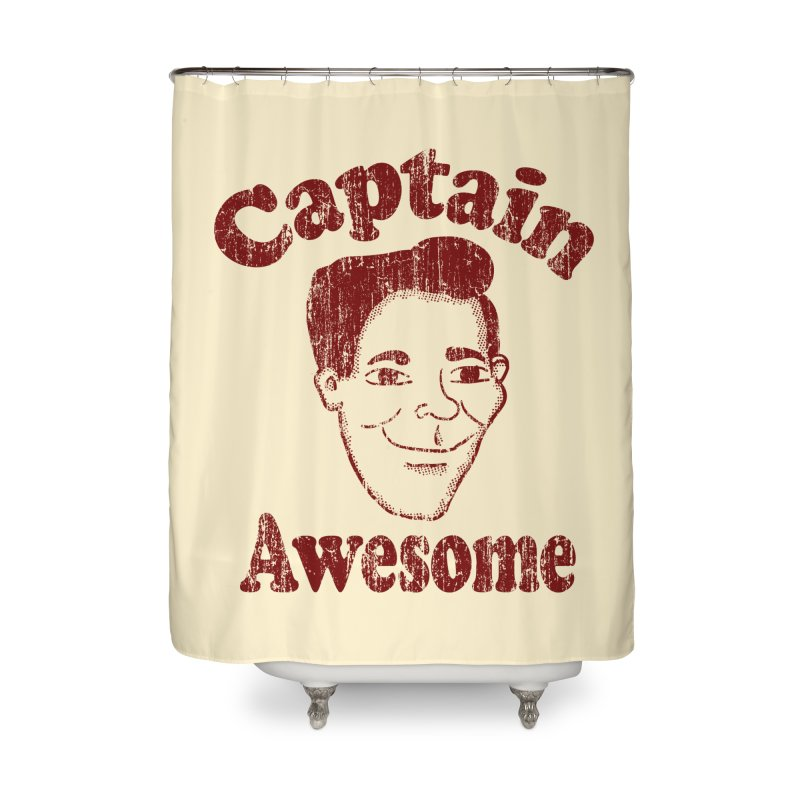 Vintage Captain Awesome Home Shower Curtain by ericallen's Artist Shop