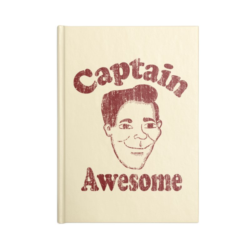 Vintage Captain Awesome Accessories Notebook by ericallen's Artist Shop