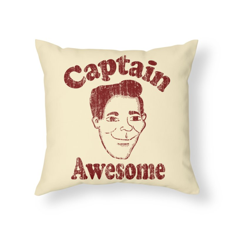 Vintage Captain Awesome Home Throw Pillow by ericallen's Artist Shop