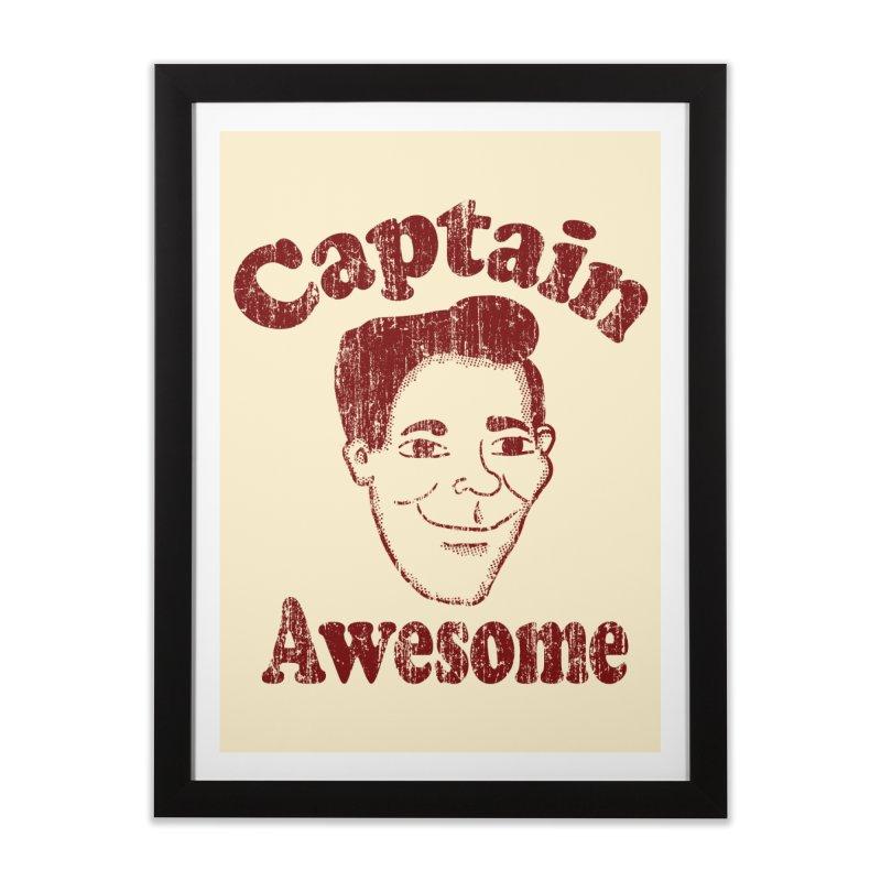 Vintage Captain Awesome Home Framed Fine Art Print by ericallen's Artist Shop