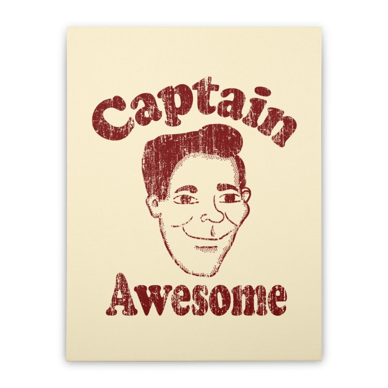 Vintage Captain Awesome Home Stretched Canvas by ericallen's Artist Shop