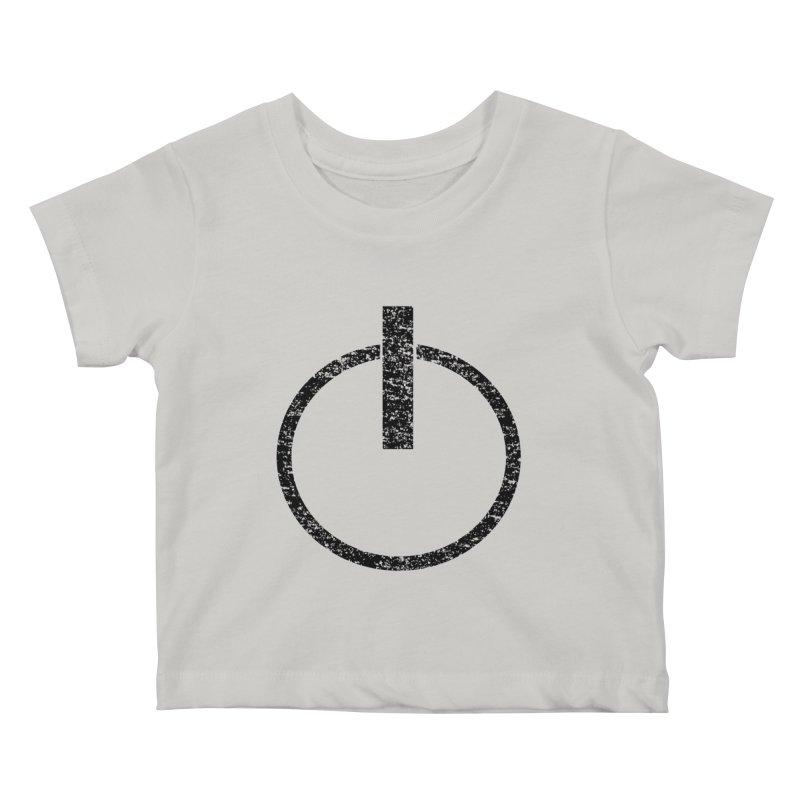 Vintage Power Symbol Kids Baby T-Shirt by ericallen's Artist Shop