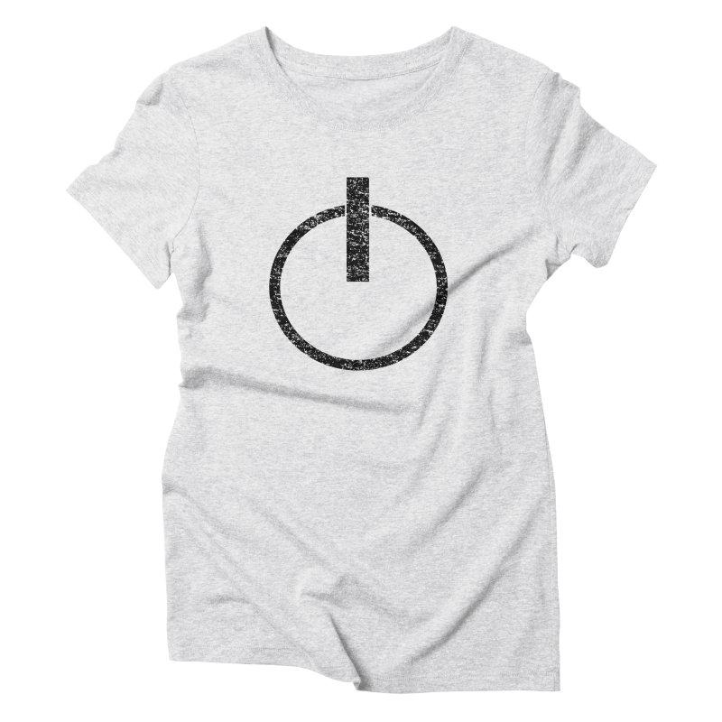 Vintage Power Symbol Women's Triblend T-Shirt by ericallen's Artist Shop