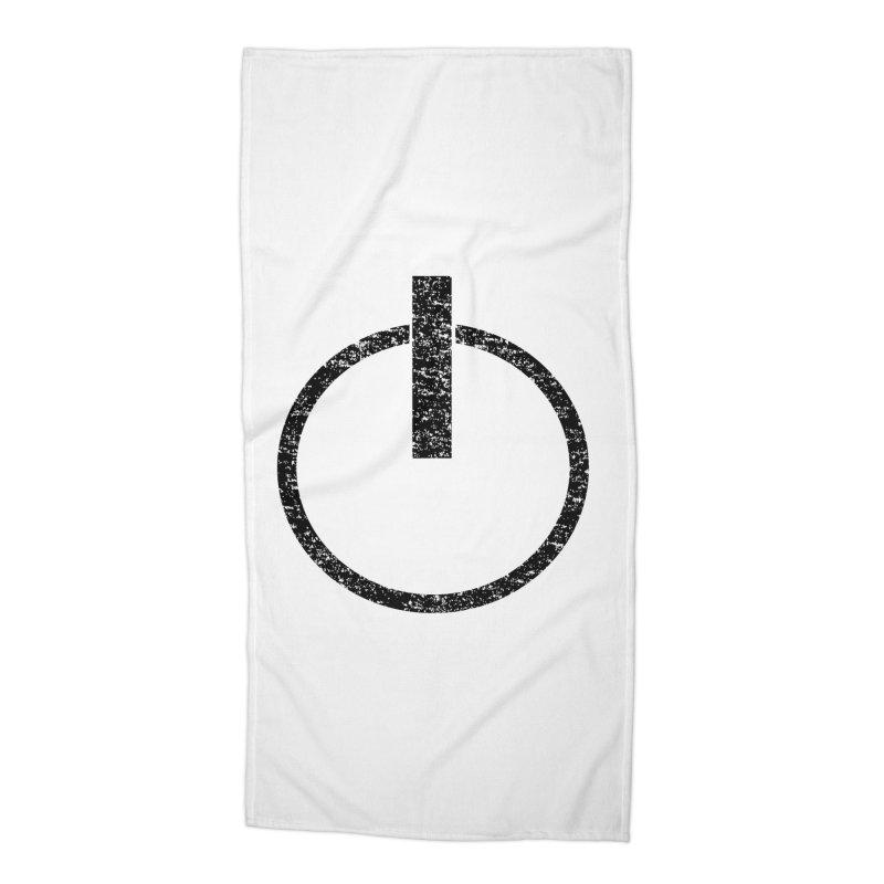Vintage Power Symbol Accessories Beach Towel by ericallen's Artist Shop