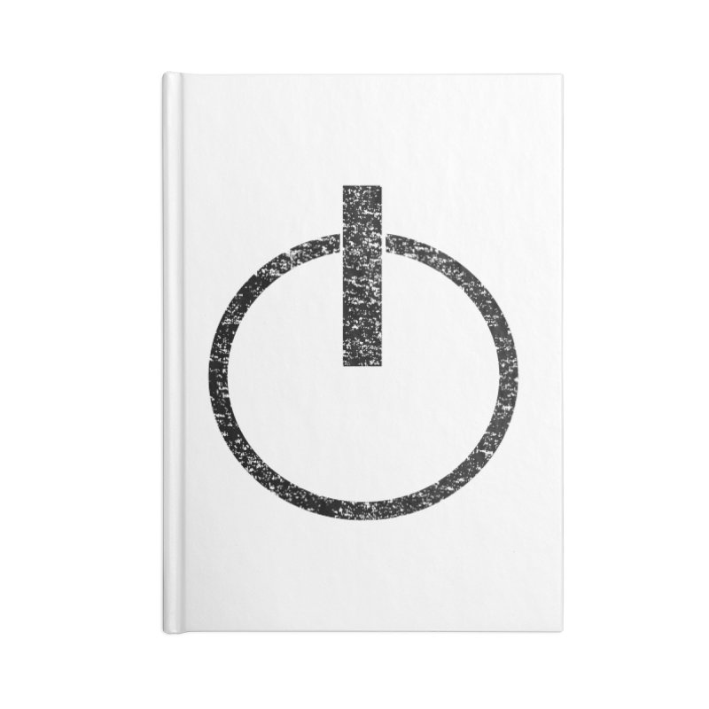 Vintage Power Symbol Accessories Notebook by ericallen's Artist Shop