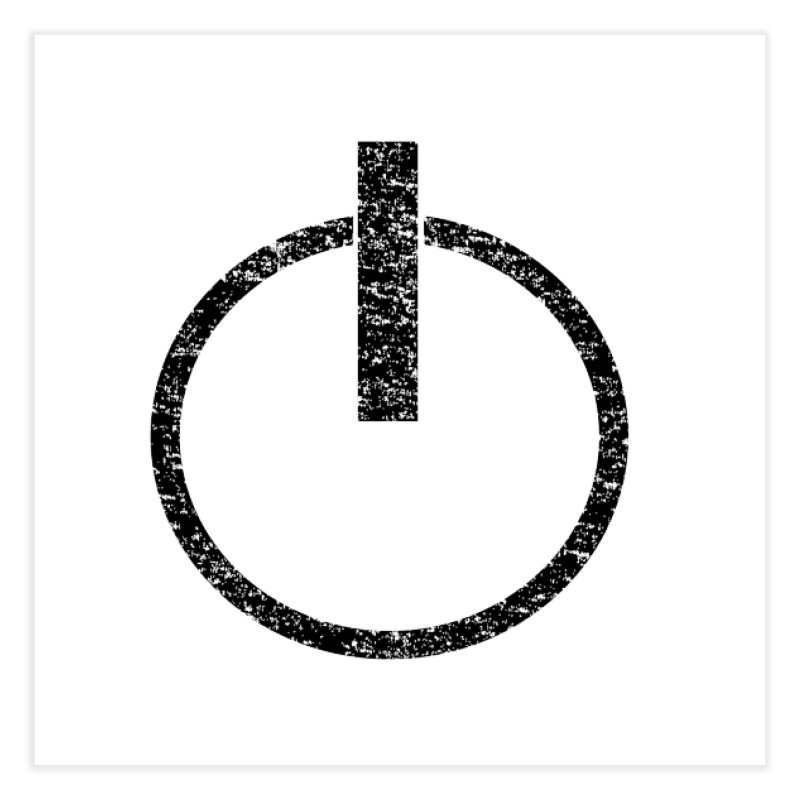 Vintage Power Symbol Home Fine Art Print by ericallen's Artist Shop