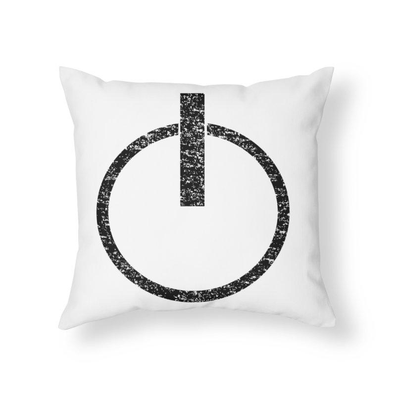 Vintage Power Symbol Home Throw Pillow by ericallen's Artist Shop