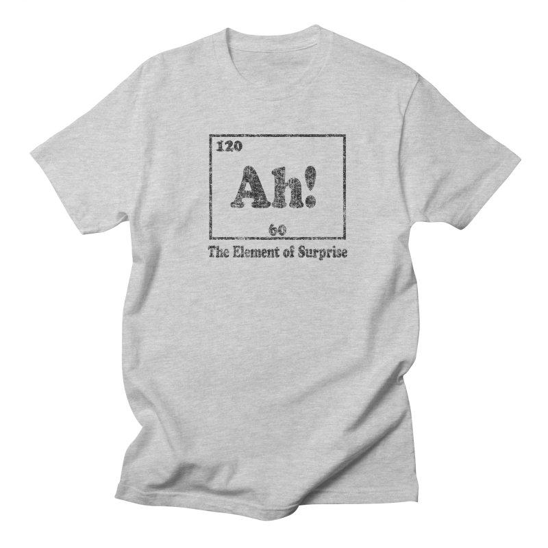 Vintage Ah! The Element of Surprise in Men's T-Shirt Heather Grey by ericallen's Artist Shop