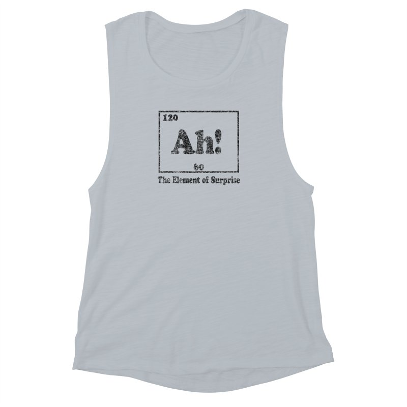 Vintage Ah! The Element of Surprise Women's Muscle Tank by ericallen's Artist Shop