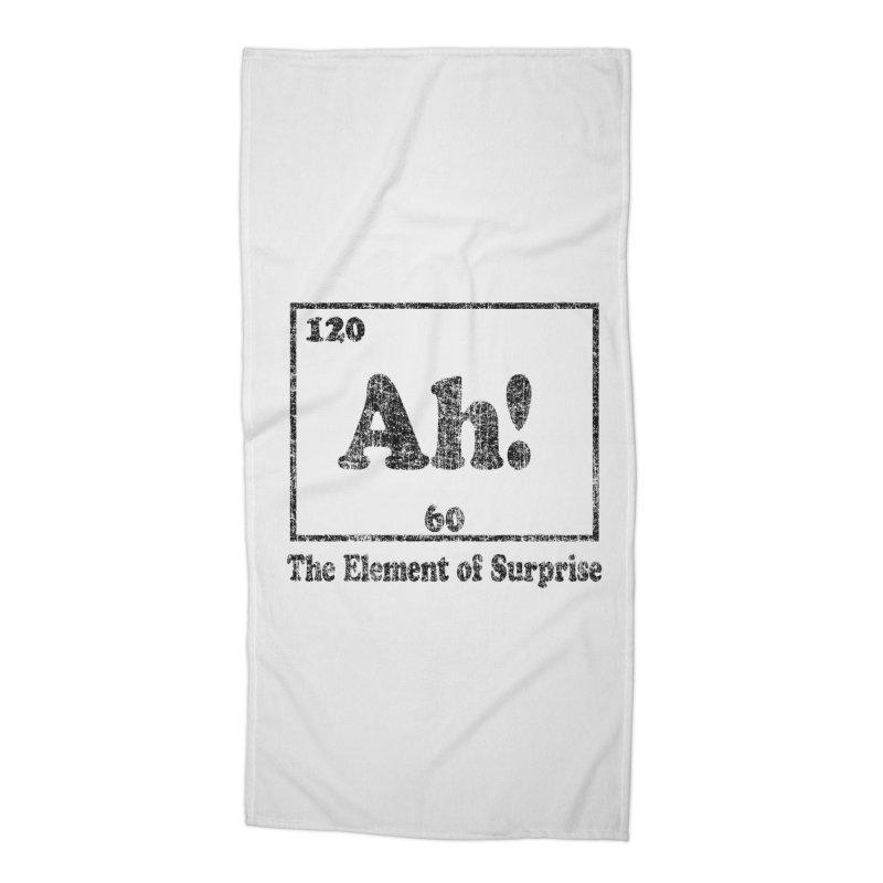 Vintage Ah! The Element of Surprise Accessories Beach Towel by ericallen's Artist Shop