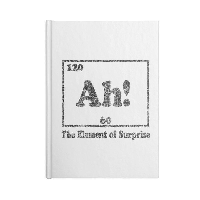 Vintage Ah! The Element of Surprise Accessories Notebook by ericallen's Artist Shop