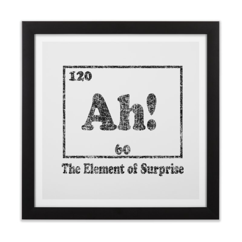 Vintage Ah! The Element of Surprise Home Framed Fine Art Print by ericallen's Artist Shop