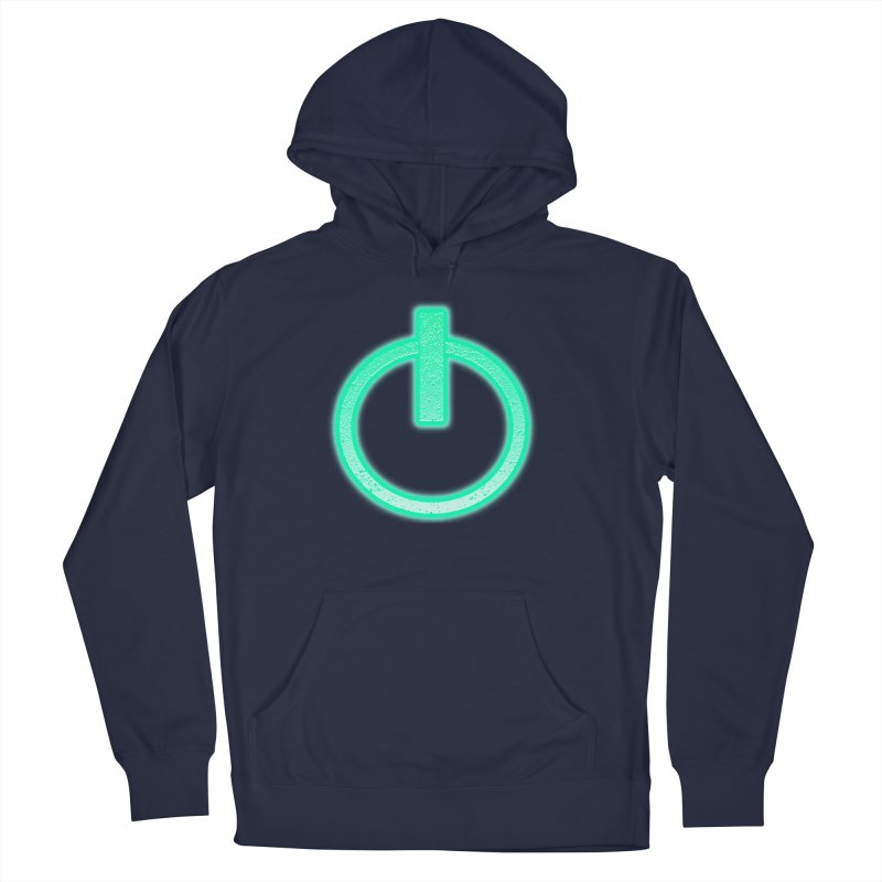Glowing Power Button symbol Men's Pullover Hoody by ericallen's Artist Shop