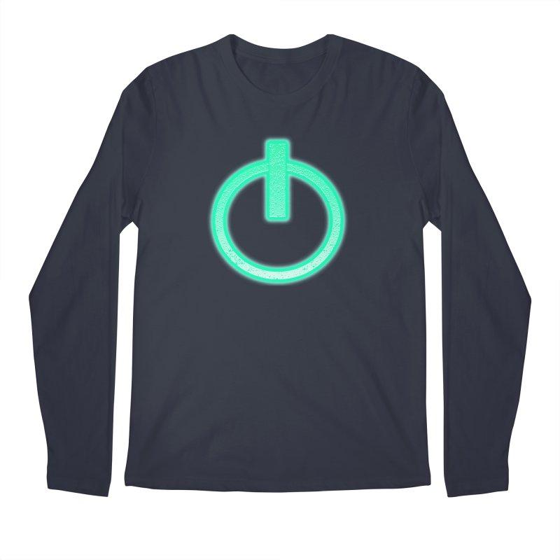 Glowing Power Button symbol Men's Longsleeve T-Shirt by ericallen's Artist Shop