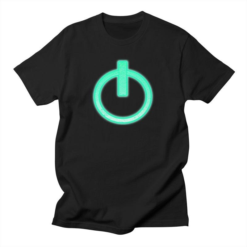 Glowing Power Button symbol in Men's T-Shirt Black by ericallen's Artist Shop