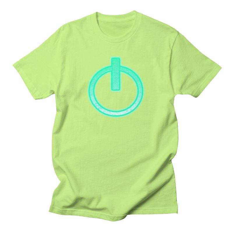 Glowing Power Button symbol Women's Unisex T-Shirt by ericallen's Artist Shop