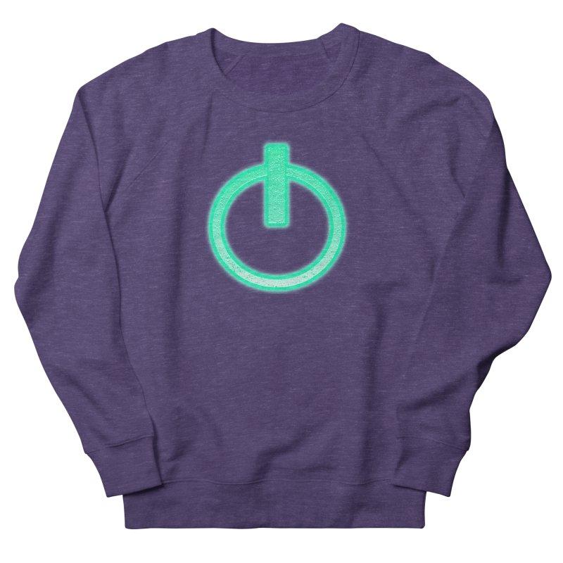 Glowing Power Button symbol Men's Sweatshirt by ericallen's Artist Shop