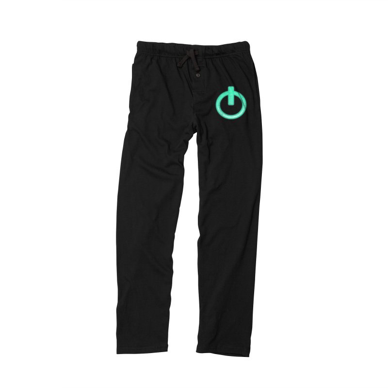 Glowing Power Button symbol Women's Lounge Pants by ericallen's Artist Shop