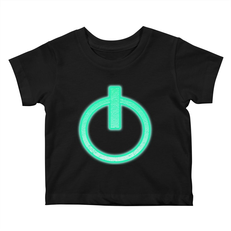 Glowing Power Button symbol Kids Baby T-Shirt by ericallen's Artist Shop