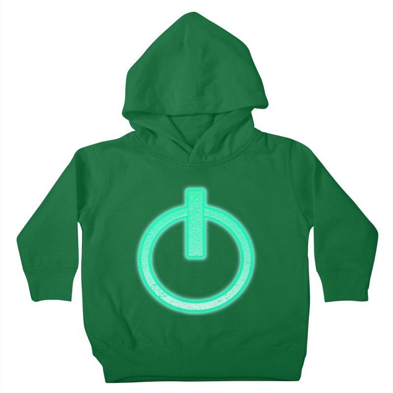 Glowing Power Button symbol Kids Toddler Pullover Hoody by ericallen's Artist Shop