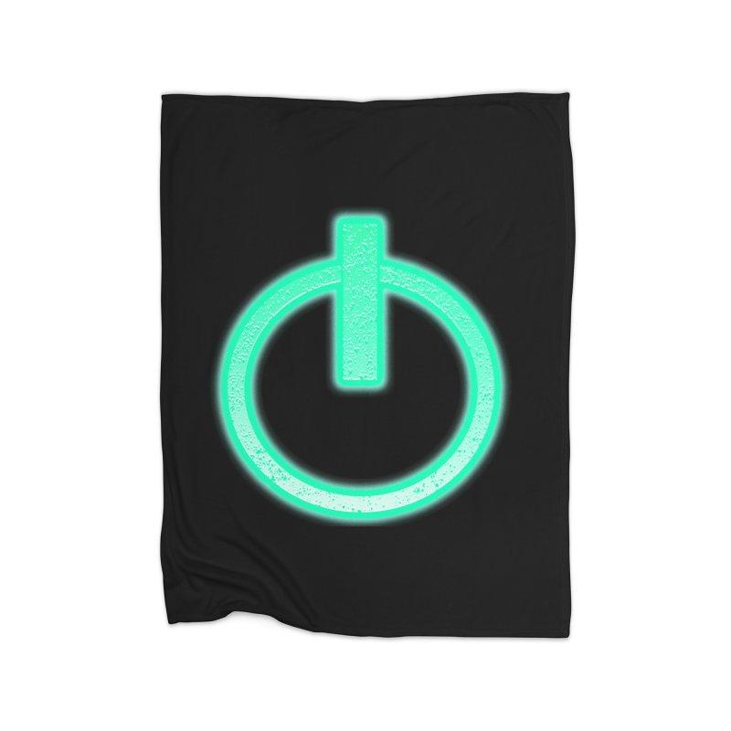 Glowing Power Button symbol Home Blanket by ericallen's Artist Shop