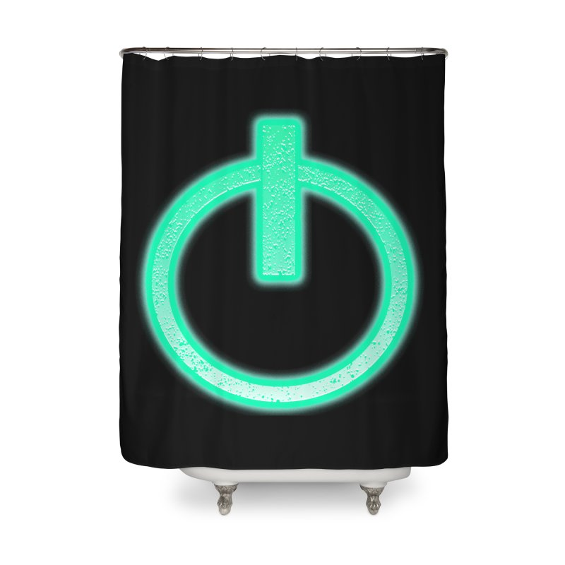 Glowing Power Button symbol Home Shower Curtain by ericallen's Artist Shop