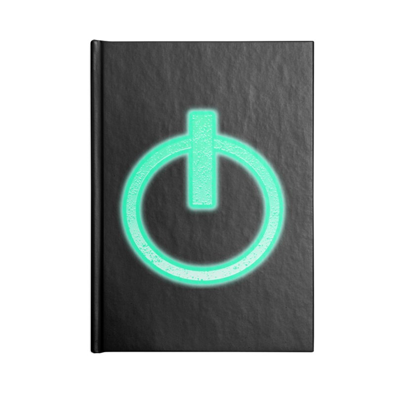 Glowing Power Button symbol Accessories Notebook by ericallen's Artist Shop