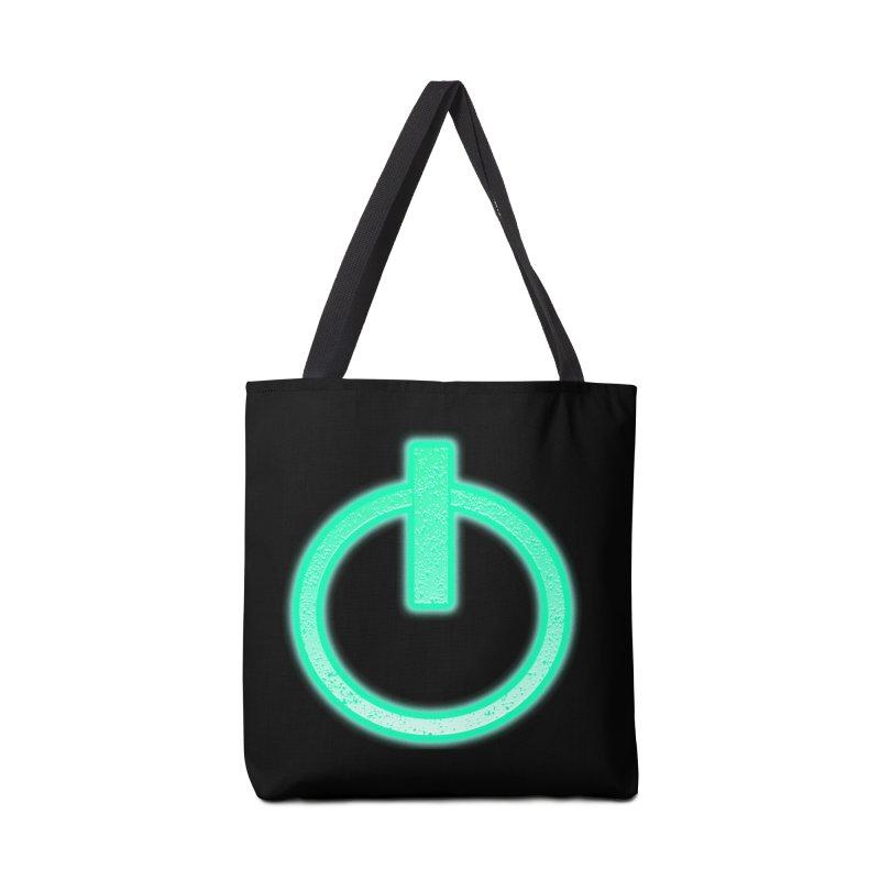 Glowing Power Button symbol Accessories Bag by ericallen's Artist Shop