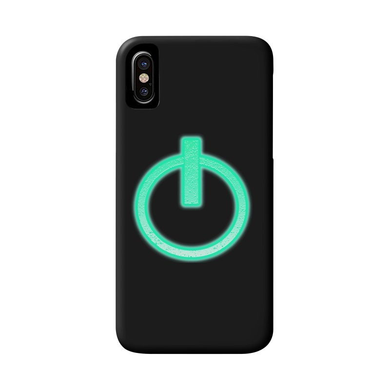 Glowing Power Button symbol Accessories Phone Case by ericallen's Artist Shop