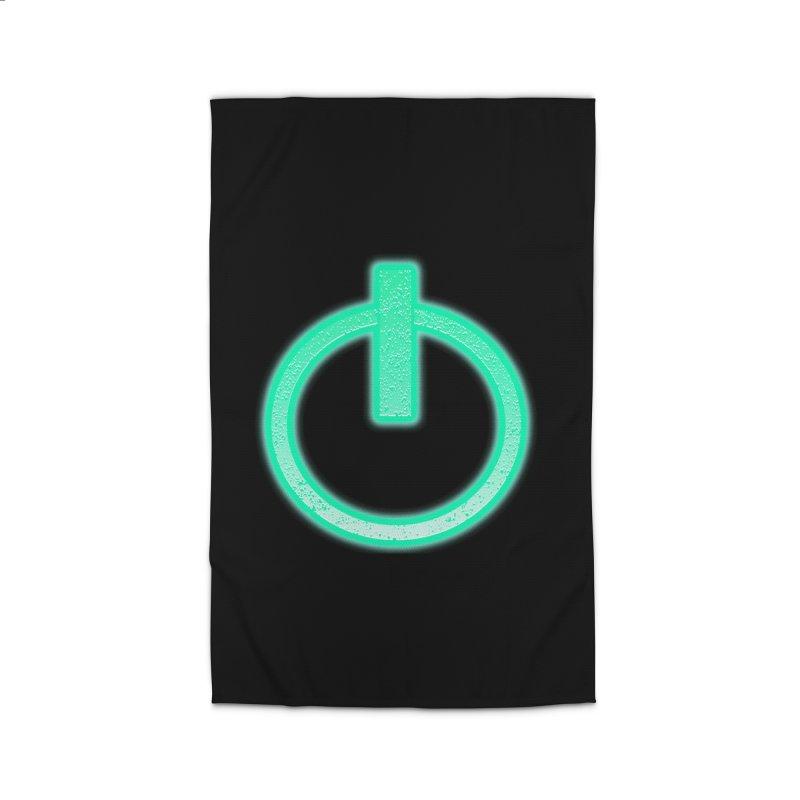 Glowing Power Button symbol Home Rug by ericallen's Artist Shop