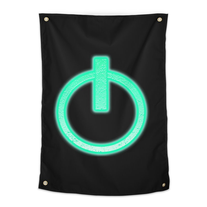 Glowing Power Button symbol Home Tapestry by ericallen's Artist Shop