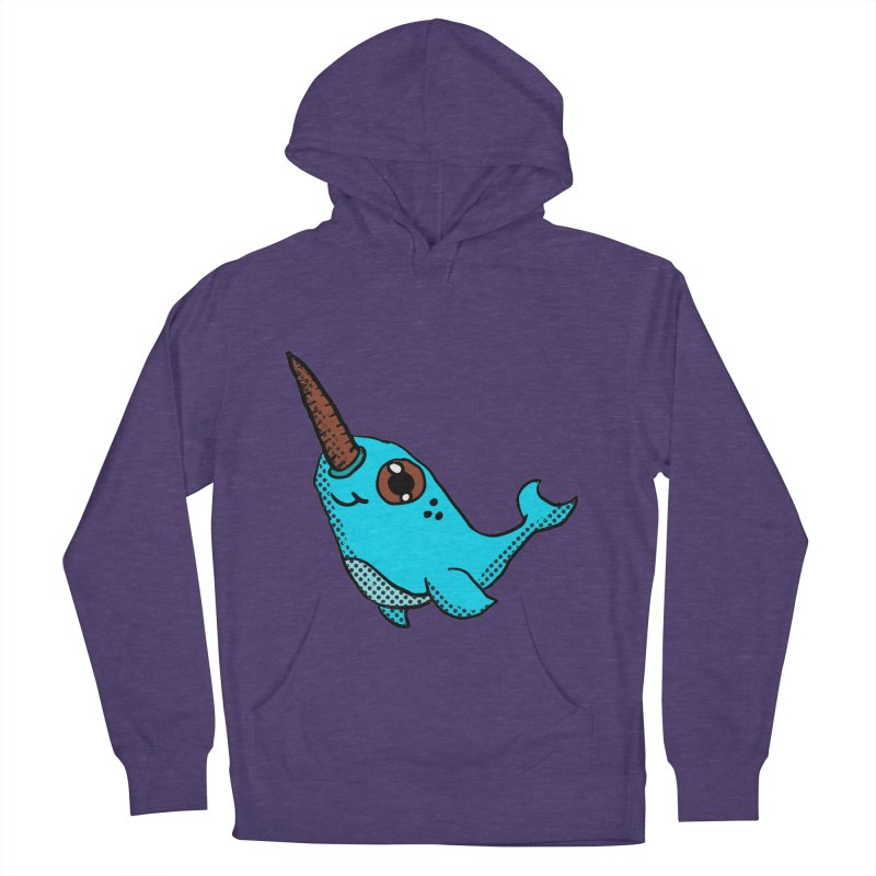 Blue Narwhal Women's Pullover Hoody by ericallen's Artist Shop