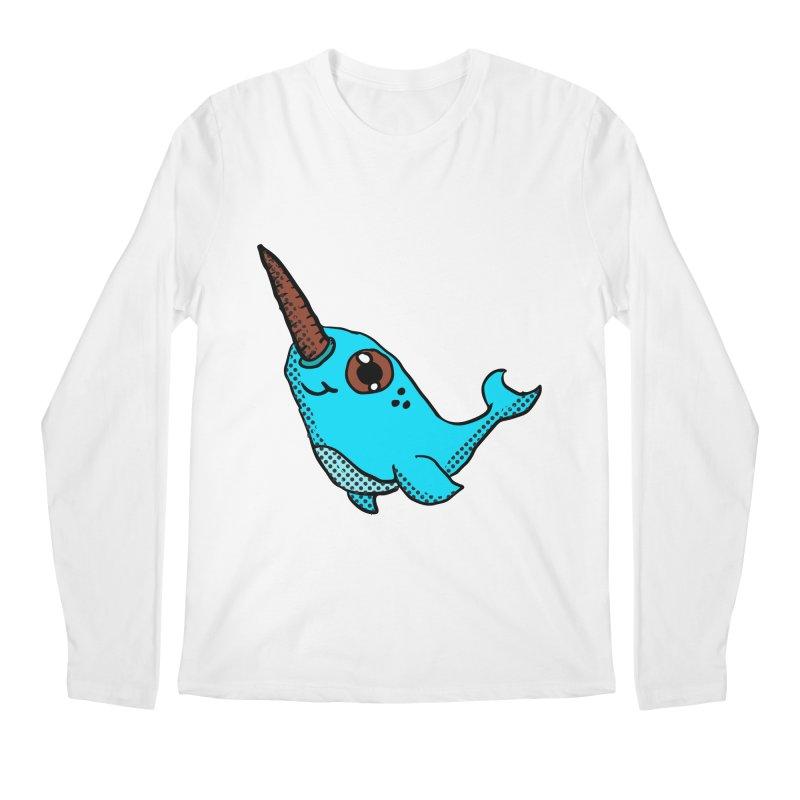 Blue Narwhal Men's Longsleeve T-Shirt by ericallen's Artist Shop