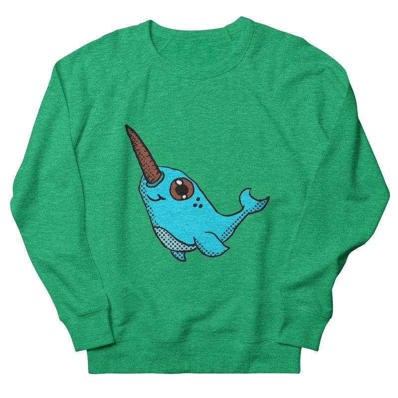 Blue Narwhal Men's Sweatshirt by ericallen's Artist Shop