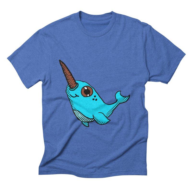 Blue Narwhal Men's Triblend T-Shirt by ericallen's Artist Shop