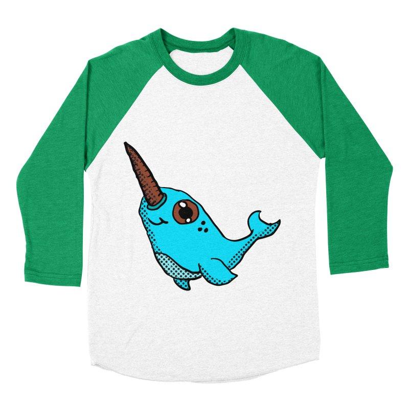 Blue Narwhal Women's Baseball Triblend T-Shirt by ericallen's Artist Shop