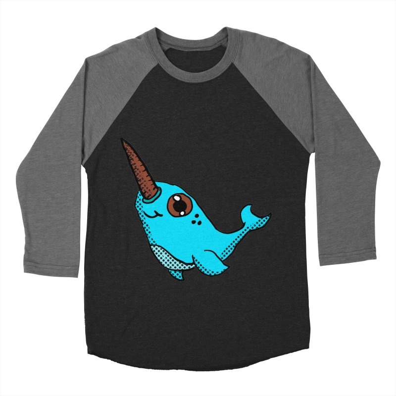Blue Narwhal Men's Baseball Triblend T-Shirt by ericallen's Artist Shop
