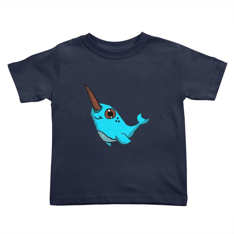Blue Narwhal Kids Toddler T-Shirt by ericallen's Artist Shop