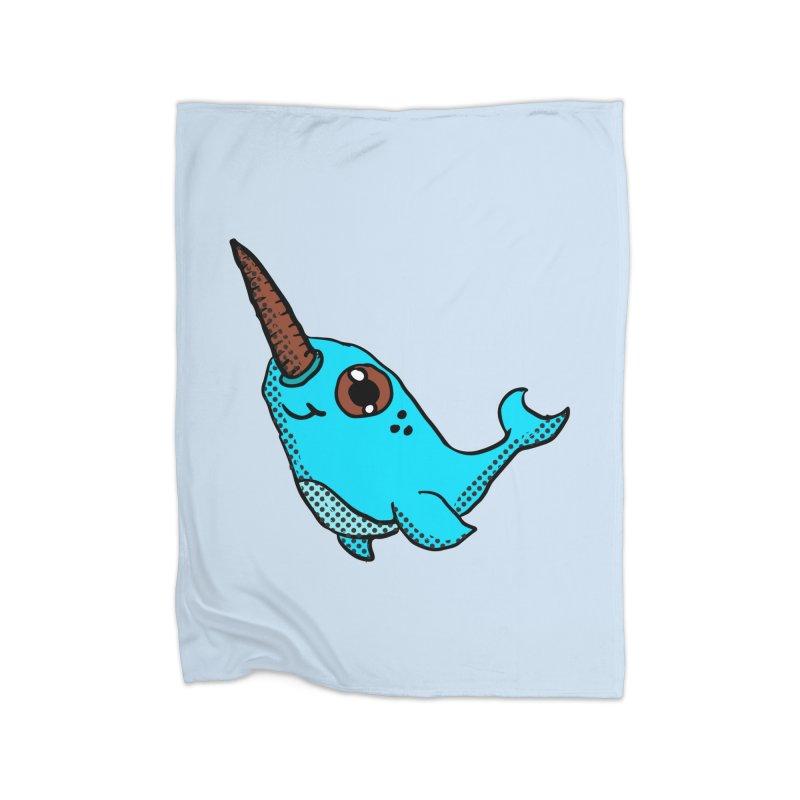 Blue Narwhal Home Blanket by ericallen's Artist Shop
