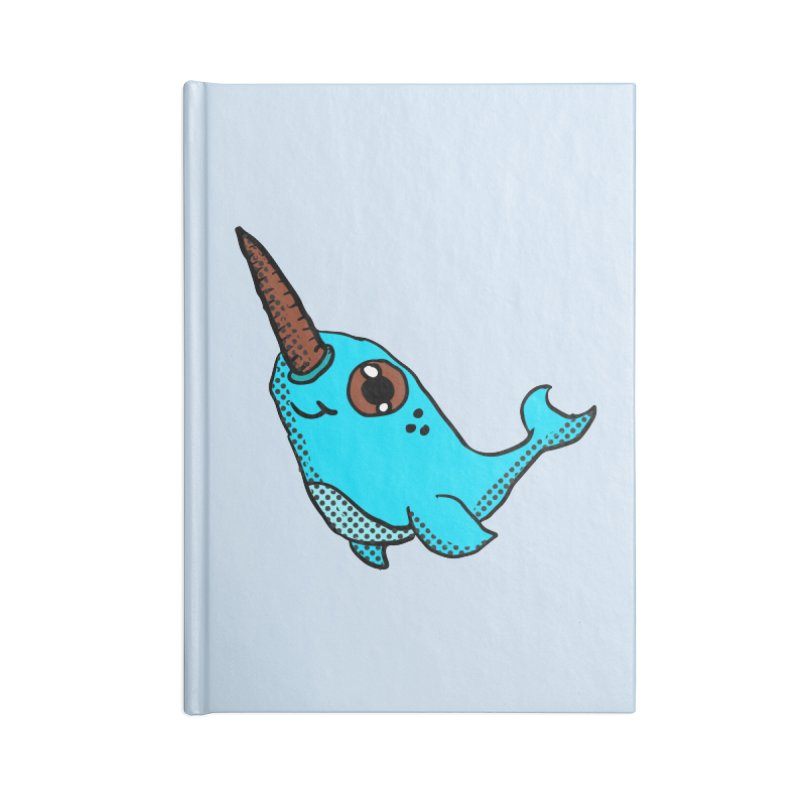 Blue Narwhal Accessories Notebook by ericallen's Artist Shop