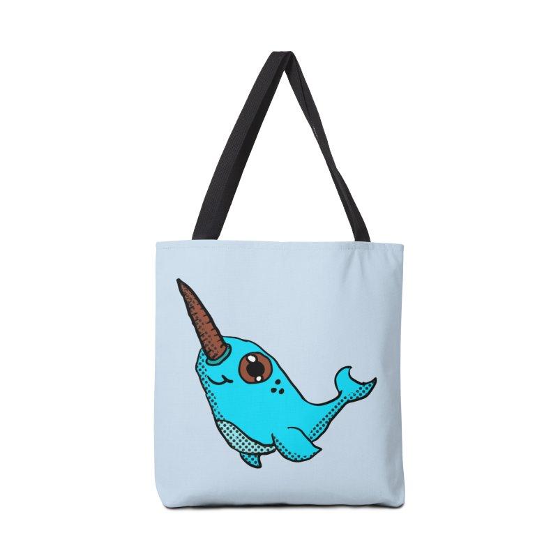 Blue Narwhal Accessories Bag by ericallen's Artist Shop