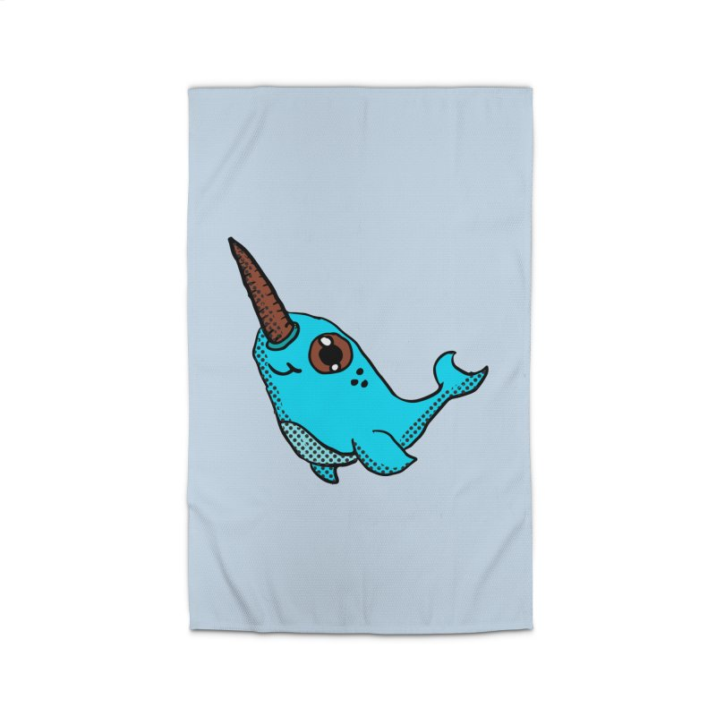 Blue Narwhal Home Rug by ericallen's Artist Shop