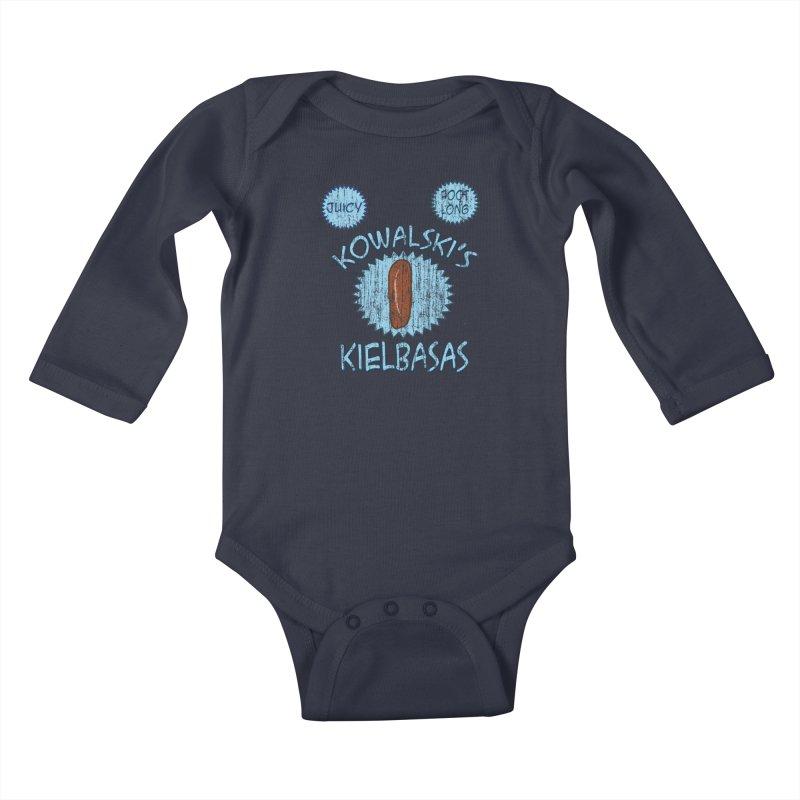 Vintage Kowalski's Kielbasas Kids Baby Longsleeve Bodysuit by ericallen's Artist Shop