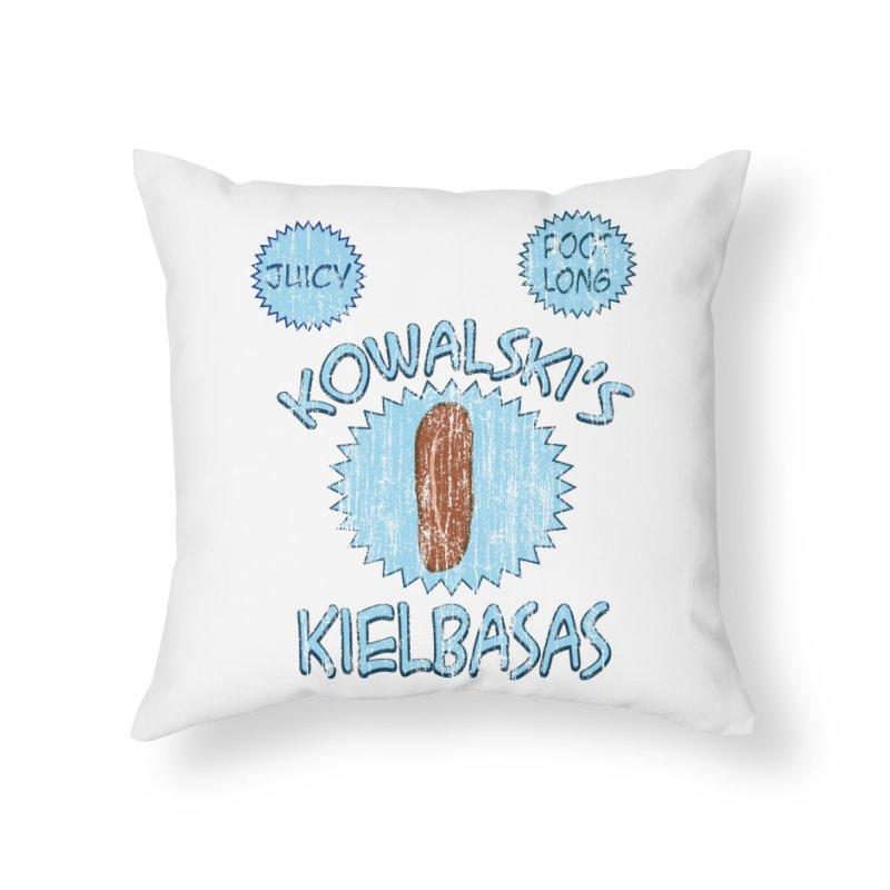 Vintage Kowalski's Kielbasas Home Throw Pillow by ericallen's Artist Shop