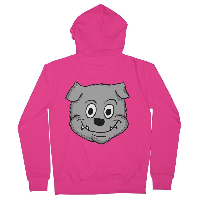 Cartoon Bulldog puppy head Men's Zip-Up Hoody by ericallen's Artist Shop