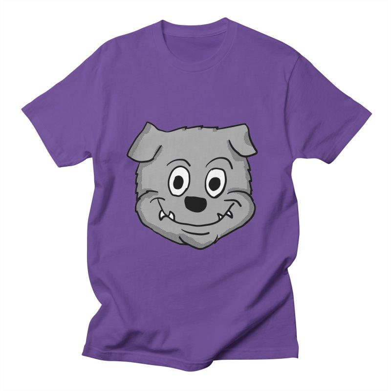 Cartoon Bulldog puppy head in Men's T-Shirt Purple by ericallen's Artist Shop